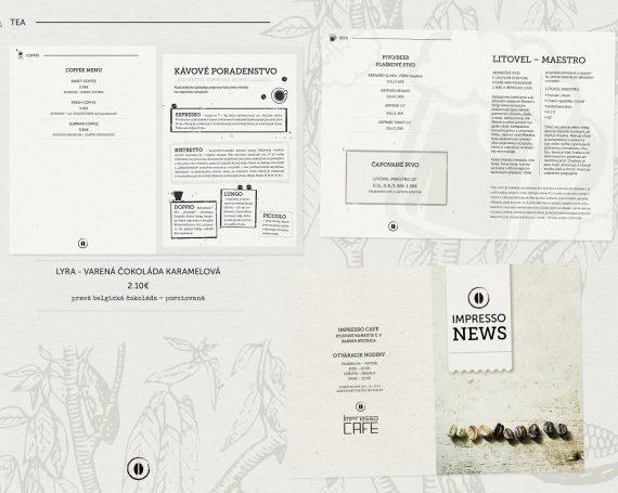 Impresso cafe menu